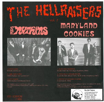 HELLRAISERS, THE : Volume 2 - The Nuthins   Vs    The Maryland Cookie