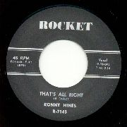 RONNY HINES: THAT'S ALLRIGHT/I'VE GOT