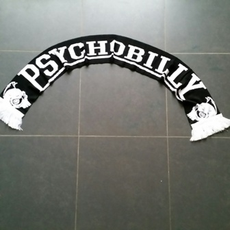 Scarf/Sjaal Psychobilly Black/white :
